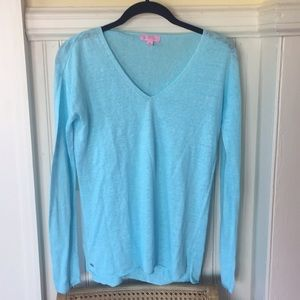 Lilly Pulitzer XS linen sweater